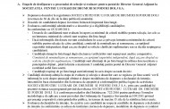 ANUNT! Formulare - procedura recrutare - Director General Adjunct