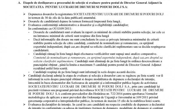 ANUNT! Formulare - procedura recrutare - Director General Adjunct